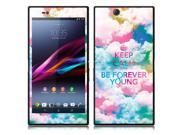 Sony Xperia Z Ultra Togari C6802 C6806 C6833 Vinyl Decal Sticker - Keep Calm Be Forever Young