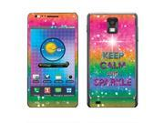 Samsung Infuse 4G I997 Vinyl Decal Sticker - Keep Calm And Sparkle