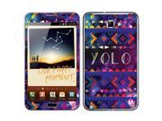Samsung Galaxy Note N7000 I717 I9220 Vinyl Decal Sticker - Aztec You Only Live Once Yolo