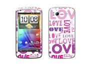 HTC Sensation 4G Vinyl Decal Sticker - Pink/ Purple Love