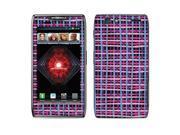 Motorola Droid Razr Maxx XT913 XT916 XT912M Vinyl Decal Sticker - Blue Pink Stripes
