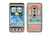 HTC EVO 3D Shoot Vinyl Decal Sticker - Aztec Pixel Pattern