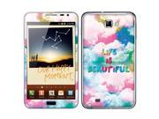 Samsung Galaxy Note N7000 I717 I9220 Vinyl Decal Sticker - Life Is Beautiful
