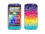 HTC Sensation 4G Vinyl Decal Sticker - Love Multicolor Music