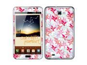Samsung Galaxy Note N7000 I717 I9220 Vinyl Decal Sticker - Flying Pink Flowers