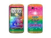 HTC Sensation 4G Vinyl Decal Sticker - Keep Calm And Sparkle