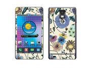 Samsung Infuse 4G I997 Vinyl Decal Sticker - Garden Flowers