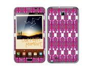 Samsung Galaxy Note N7000 I717 I9220 Vinyl Decal Sticker - Purple And Green Mix