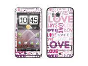 HTC Thunderbolt ADR6400 Vinyl Decal Sticker - Pink/ Purple Love