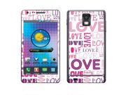 Samsung Infuse 4G I997 Vinyl Decal Sticker - Pink/ Purple Love