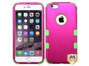 Apple iPhone 6 plus 5.5 inch Hard Cover and Silicone Protective Case - Hybrid Triad Titanium Hot Pink/Electric Green Tuff + Tool