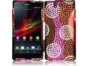 Sony Xperia Z C6603 C6606 Hard Case Cover - Colorful Ethnic Wave Texture + Tool