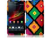 Sony Xperia Z C6603 C6606 Hard Case Cover - Colorful Frame Tribal Texture + Tool
