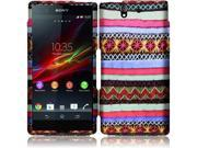 Sony Xperia Z C6603 C6606 Hard Case Cover - Colorful Indian Pattern Texture + Tool