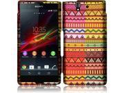 Sony Xperia Z C6603 C6606 Hard Case Cover - Geometric Aztec Texture + Tool