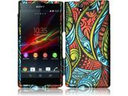 Sony Xperia Z C6603 C6606 Hard Case Cover - Seamless Antique Swirls Texture + Tool