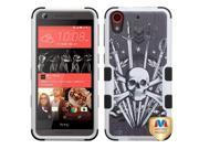 HTC Desire 626 626S Hard Cover and Silicone Protective Case - Hybrid Sword and Skull/ Black Tuff