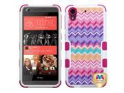 HTC Desire 626 626S Hard Cover and Silicone Protective Case - Hybrid Camo Wave/ Hot Pink Tuff