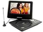 US 9.5'' Portable TFT LCD 16:9  Monitor 180° Swivel Screen DVD Player w/ Built-In USB SD Card Slot, Support AVI MPEG4 MP3 WMA MP4 CD DVD VCD  JPEG Shockproof - Black