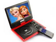 Bravolink 9.5 inch TFT LCD Handheld Portable DVD Player Audio Video VCD CD Photo Game MP3 MP4_Red