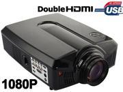 """New 2600 lumens 30000 Hours LED Lamp 5.8"""" LCD Projector Home Theater 2x HDMI 2x USB AV VGA S-Video PS3 Wii (Black)"""