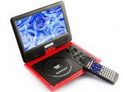 "9.5"" Handheld Portable DVD Player Game+USB+SD+MP4 Swivel&Flip analogue TV red"