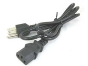US Style Universal 3 Prong Power Cord Cable for Desktop, Printers, Monitors