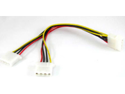 """6pcs 4"""" inch 4pin INTERNAL PC POWER SPLITTER Y CABLE"""