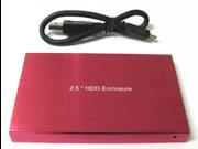 "New USB 3.0 USB 2.0 2.5"" 2.5 Inch SATA Hard Disk Drive HDD Red Enclosure/Case"