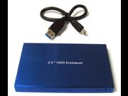 "New USB 3.0 USB 2.0 2.5"" 2.5 Inch SATA Hard Disk Drive HDD Blue Enclosure/Case"