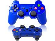 New Wireless Controller Bluetooth for Sony Playstation 3 PS3 Blue Color Key
