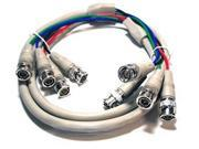 4 BNC to 4 BNC RGBS High Resolution Video Cable - 6ft