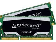 Ballistix Sport SODIMM 8GB Kit 4GB x2 DDR3 1600 MHz PC3-12800 Memory RAM