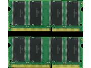 1GB KIT (2X512MB) SDRAM MEMORY 3.3V  144-PIN RAM PC100 7NS SODIMM