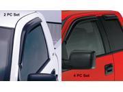 Side Window Vents-Nissan Rogue 2009-2013-Smoke-4 PC Set