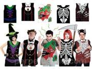 Set of 5 Emergency Spooky Horror Costumes! Instant Halloween Party!
