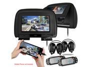 "XTRONS HDMI Black 2X Car Headrest DVD Multi-Media Player 9"" HD Screen Game IR Headphone"