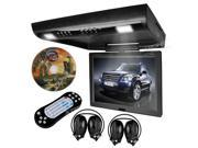 "XTRONS 15"" Swivel HD Screen 1440*900 Car Coach Caravan Roof Mount Flip Down DVD Player Overhead FM Game Disc IR Headphone"