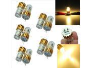 10PCS G4 2W 24 SMD Capsule Silica Gel Lamp White Light Bulb 12V Golden Shell