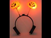 3X Special Decoration Pumpkin LED Lighting Headwear Shiny Hair Headband for Halloween Mah