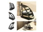 Remote Control Holder Black Solid Metal Organiser Stand  Tidy Storage DVD Home