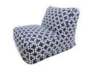 Navy Blue Links Bean Bag Chair Lounger