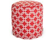 Majestic Home Goods Red Links Small Pouf