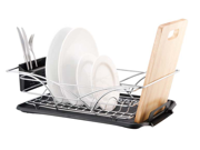 Multi-Function Dish Drainer Chrome Plate