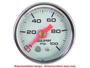 Auto Meter 2180 Auto Meter Direct Mount Pressure Gauge Silver Dial / Chrome Cas