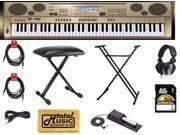 Casio Privia AT5 76-key Oriental Keyboard COMPLETE STAGE PACKAGE