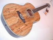 Oscar Schmidt Folk Style Acoustic Guitar, Spruce Top, Spalt Maple Finish, OF2SM
