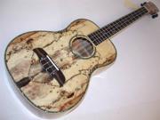 Oscar Schmidt Baritone Uke, Spalted Mango, Grover Tuners, Aquila Strings, OU57