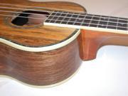 Oscar Schmidt Acoustic/Electric Tenor Ukulele, Spalted Mango, OU7TE