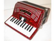 Hohner Hohnica Piano Accordion 1304, RED, 26 Keys 48 Bass, Case & Straps, NEW